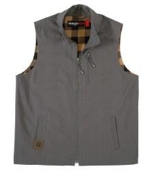 Mens Flannel Lined Ropstop Vest