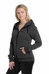 Ladies Cinch Heathered Black Hoodie