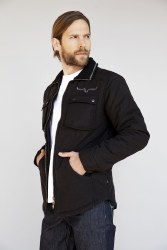 Mens Black Quilted Jacket