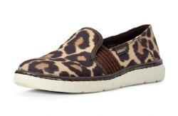 Ladies Leopard Slip On Shoe