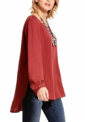 Ladies Ruby Stone Tunic