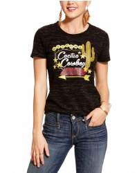 Ladies Black Royal Flush Tee