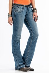 Ladies ABBY Mid Rise Slim Fit Boot Cut Jean