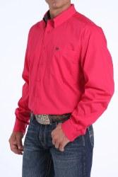 Mens Solid Dark Pink Classic Fit Shirt