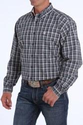 Mens Grey Plaid Performance Shirt