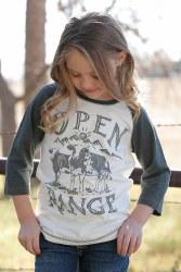 "Girls ""Open Range"" Baseball Tee"