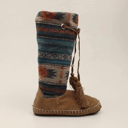 Ladies Multi Colored Slipper Boot