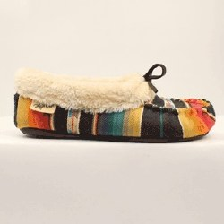 Ladies Multicolored Moccassin Slippers