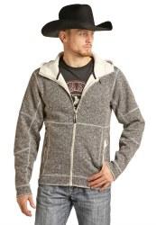 Mens Hooded Zip Jacket Sweater