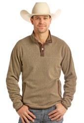 Mens Fleece Henley Pullover