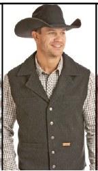 Mens Black Wool Vest