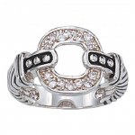 Montana Silversmiths Crystal Link Ring Size 7