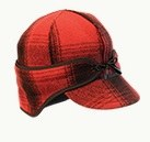 The Rancher Wool Cap - Red/Black Plaid