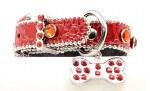 "3/4"" Red Crocodile Print Dog Collar"