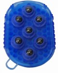 Blue Gel Groomer Massage Mitt w/ Magnesium Rollers