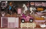 Bigtime Barnyard Pink 4 Wheeler & Stable Set
