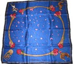 Limited Edition Silk Scarf Rodeo Girls Blue