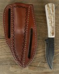 Pine Ridge Timberline Right Hand Knife, Tooled Leather Case