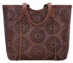 Kachina Spirit Large Chestnut Brown Zip Top Tote