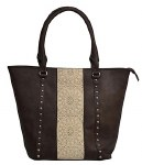 Brown Purse with Tan Lace