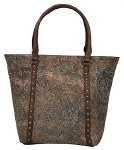 Metallic Emb Brown Purse