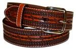 Kids Stamped Tan Leather Belt