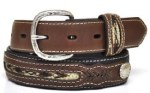 Boys Two Tone Southwest Concho Belt