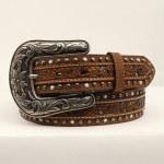 Ladies Floral Pierced Belt