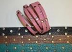 Double Wrap Split Leather Bracelet