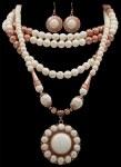 Copper/White Necklace Set
