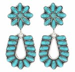 Starred Horseshoe Turquoise Earrings