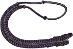 Metallic Cord Knotted Barrel Reins