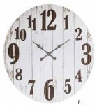 "36"" Distressed Metal Clock"