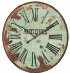 "41"" Distressed Metal Wall Clock"