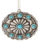 Turquoise Medallion Ornament