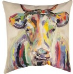 Multicolor Cow Pillow
