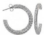 Montana Silver Crystal Inside Out Hoop Earrings
