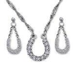 Crystal Clear Lucky Horseshoe Jewellery Set