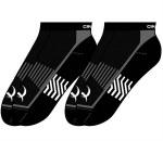 Mens Black Ankle Socks 2 Pair Pack