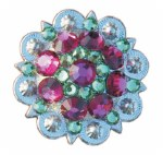 Swarovski Crystal Pink/Emerald