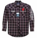Mens Black/Charcoal Plaid Snap Shirt