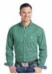Mens Green Pinedale Vintage Print Shirt