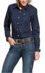 Ladies Midnight Blue Arrows Shirt