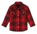 Toddler Red Plaid Snap Shirt