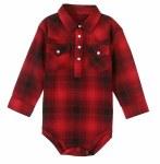 Baby Red Plaid Snap Onsie