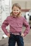 Girls Purple Print and Rhinestone Shirt