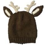 Farm Boy Toddler Brown Reindeer Hat and Mitten Set