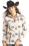 Ladies Cactus Print Fleece Pullover