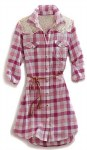 Tin Haul Ladies Raspberry Check Shirtdress