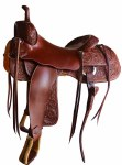 """Frontier 20X Cutting Saddle Bill Riddle Edition 16"""" Seat"""